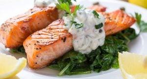Pavé de saumon à l'oseille Le Mermoz Montoire 41