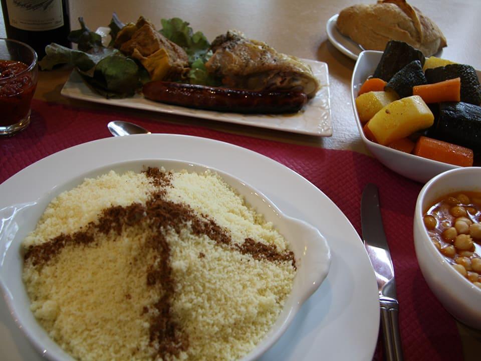 Spécialité de couscous du restaurant Le Mermoz de Montoire proche de Vendôme